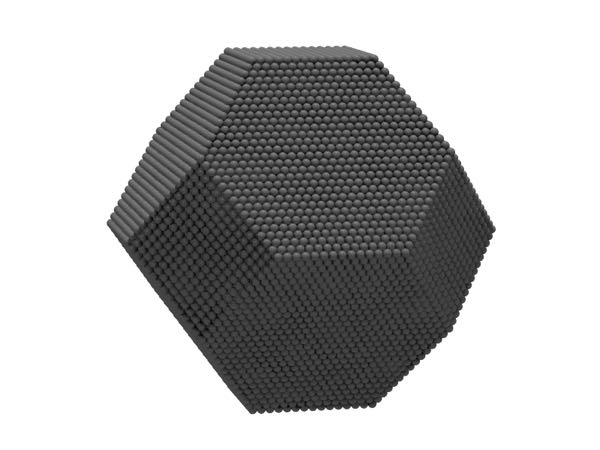 Image of truncated octahedral nanoparticle